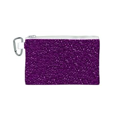 Sparkling Glitter Plum Canvas Cosmetic Bag (S)