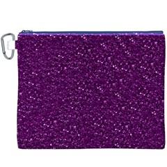 Sparkling Glitter Plum Canvas Cosmetic Bag (xxxl)