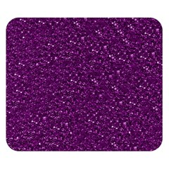 Sparkling Glitter Plum Double Sided Flano Blanket (small)
