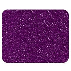 Sparkling Glitter Plum Double Sided Flano Blanket (Medium)