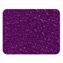 Sparkling Glitter Plum Double Sided Flano Blanket (Large)
