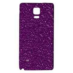 Sparkling Glitter Plum Galaxy Note 4 Back Case