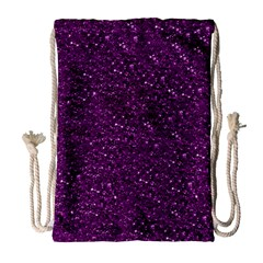 Sparkling Glitter Plum Drawstring Bag (large)