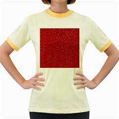 Sparkling Glitter Red Women s Fitted Ringer T-Shirts