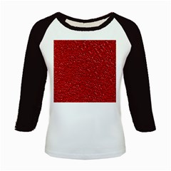 Sparkling Glitter Red Kids Baseball Jerseys