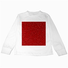 Sparkling Glitter Red Kids Long Sleeve T-Shirts