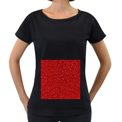 Sparkling Glitter Red Women s Loose-Fit T-Shirt (Black)