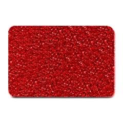 Sparkling Glitter Red Plate Mats