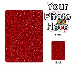 Sparkling Glitter Red Multi-purpose Cards (Rectangle)