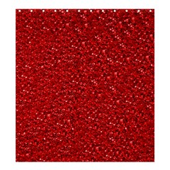 Sparkling Glitter Red Shower Curtain 66  x 72  (Large)