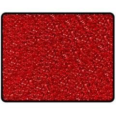 Sparkling Glitter Red Fleece Blanket (medium)