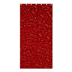 Sparkling Glitter Red Shower Curtain 36  X 72  (stall)