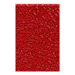 Sparkling Glitter Red Shower Curtain 48  x 72  (Small)
