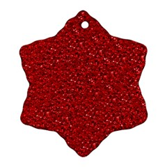 Sparkling Glitter Red Snowflake Ornament (2 Side)