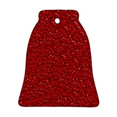 Sparkling Glitter Red Bell Ornament (2 Sides)
