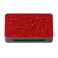 Sparkling Glitter Red Memory Card Reader with CF