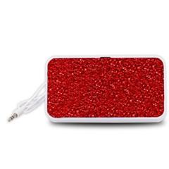 Sparkling Glitter Red Portable Speaker (White)