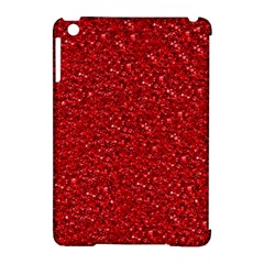 Sparkling Glitter Red Apple Ipad Mini Hardshell Case (compatible With Smart Cover)