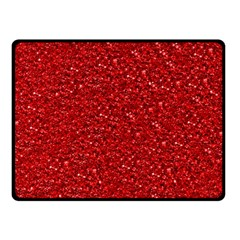 Sparkling Glitter Red Double Sided Fleece Blanket (Small)