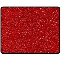 Sparkling Glitter Red Double Sided Fleece Blanket (medium)