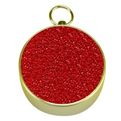 Sparkling Glitter Red Gold Compasses
