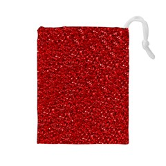 Sparkling Glitter Red Drawstring Pouches (large)