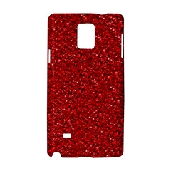 Sparkling Glitter Red Samsung Galaxy Note 4 Hardshell Case