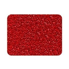Sparkling Glitter Red Double Sided Flano Blanket (mini)