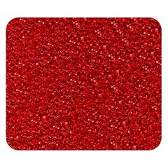 Sparkling Glitter Red Double Sided Flano Blanket (Small)