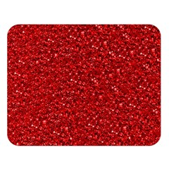 Sparkling Glitter Red Double Sided Flano Blanket (large)