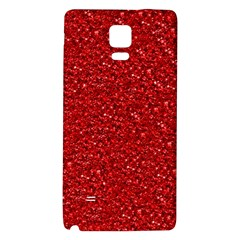 Sparkling Glitter Red Galaxy Note 4 Back Case