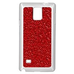 Sparkling Glitter Red Samsung Galaxy Note 4 Case (white)