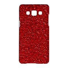 Sparkling Glitter Red Samsung Galaxy A5 Hardshell Case