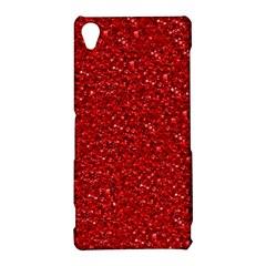 Sparkling Glitter Red Sony Xperia Z3