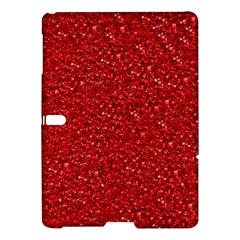 Sparkling Glitter Red Samsung Galaxy Tab S (10.5 ) Hardshell Case