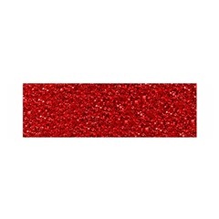 Sparkling Glitter Red Satin Scarf (Oblong)