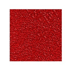 Sparkling Glitter Red Small Satin Scarf (Square)