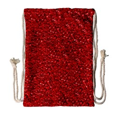 Sparkling Glitter Red Drawstring Bag (Large)
