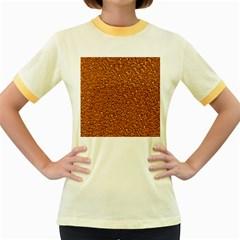 Sparkling Glitter Terra Women s Fitted Ringer T-Shirts