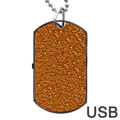 Sparkling Glitter Terra Dog Tag Usb Flash (one Side)