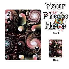 Peach Swirls On Black Playing Cards 54 Designs