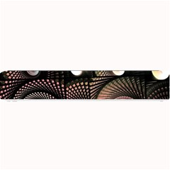 Peach Swirls on Black Small Bar Mats