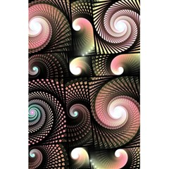 Peach Swirls On Black 5 5  X 8 5  Notebooks
