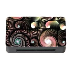 Peach Swirls on Black Memory Card Reader with CF