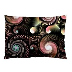 Peach Swirls on Black Pillow Cases (Two Sides)