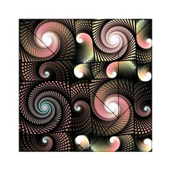 Peach Swirls on Black Acrylic Tangram Puzzle (6  x 6 )