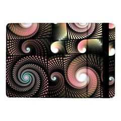 Peach Swirls On Black Samsung Galaxy Tab Pro 10 1  Flip Case