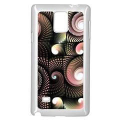 Peach Swirls On Black Samsung Galaxy Note 4 Case (white)