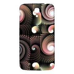 Peach Swirls on Black Samsung Galaxy Mega I9200 Hardshell Back Case