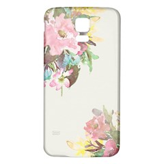 Vintage Watercolor Floral Samsung Galaxy S5 Back Case (white)